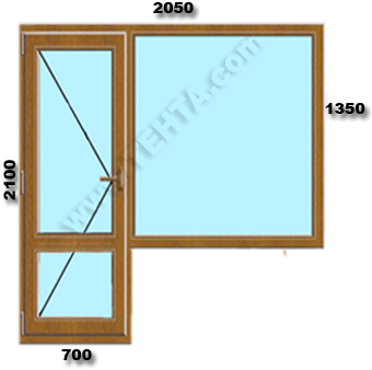 Вратопрозорец с неотваряем прозорец pvc дограма Габрово