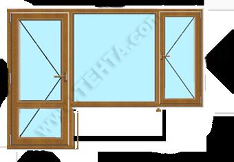 Вратопрозорец с отваряемо крило на прозореца пвц дограма Габрово